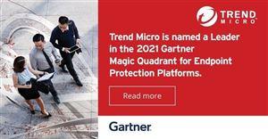 Trend Micro tiếp tục được Gartner xếp ở vị trí  Leader trong bảng đánh giá Magic Quadrant 2021